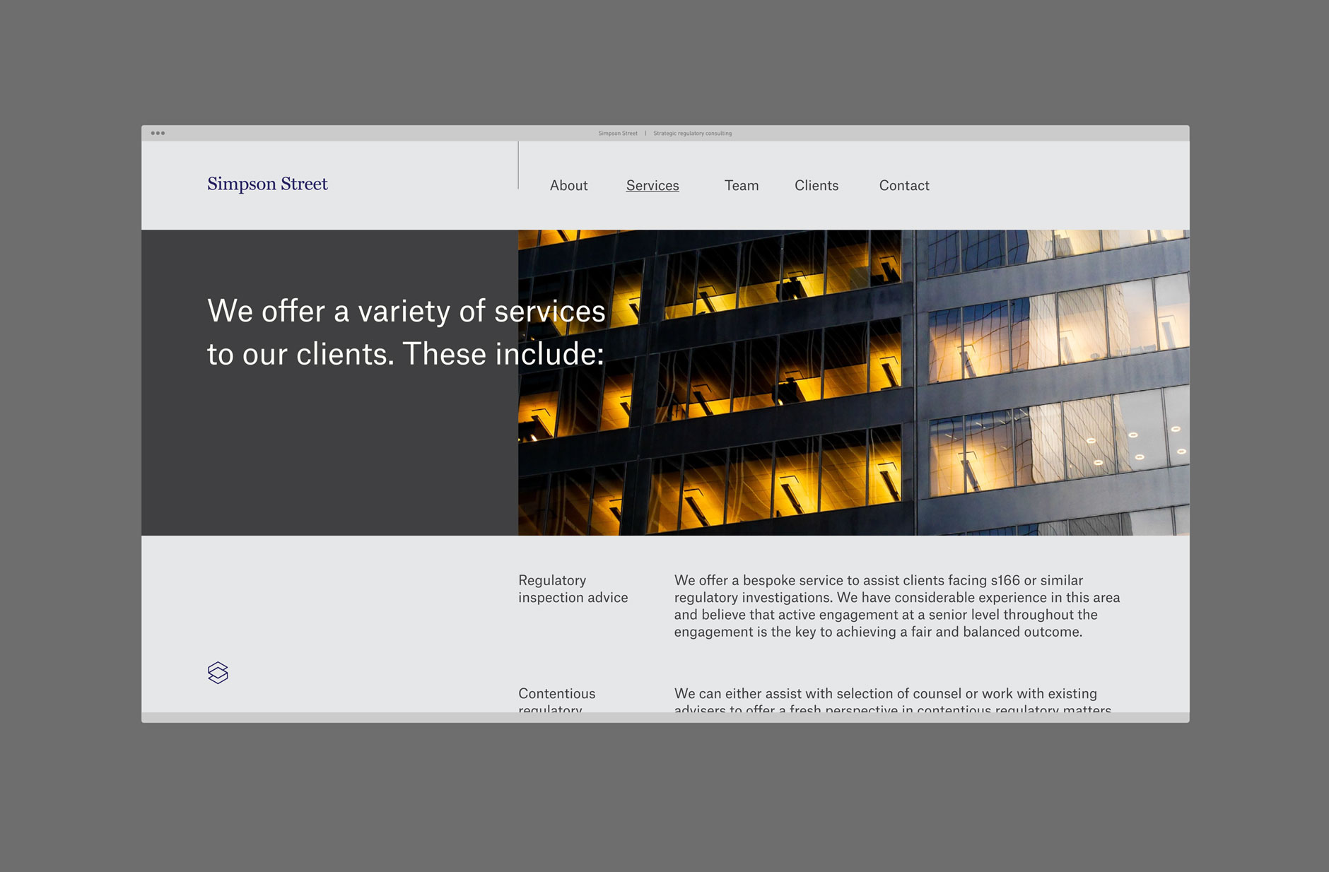 Simpson Street Website Design